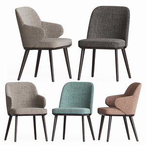 3D foyer dining chair set