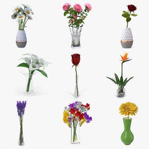 flowers vases 3 model