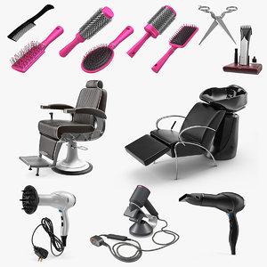 hair beauty salon equipment 3D model