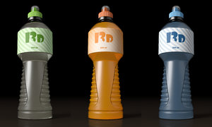 3D isotonic bottle mockup model