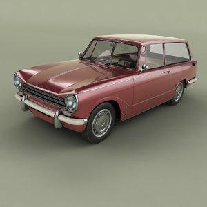 1968 triumph herald estate 3D model