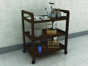 mobile kitchen set 3D