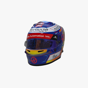 grosjean 2020 helmet 3D model