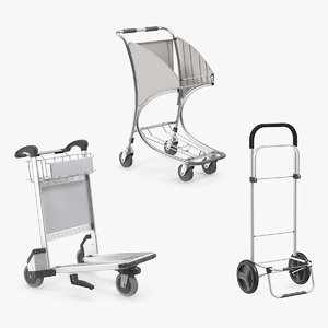 3D luggage carts