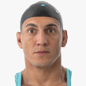 mike human head upper 3D