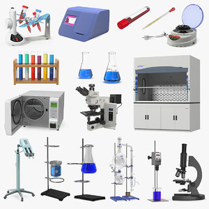 lab equipment 9 3D