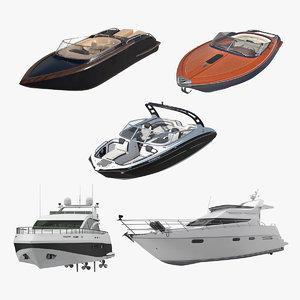 motor yachts 3 3D model