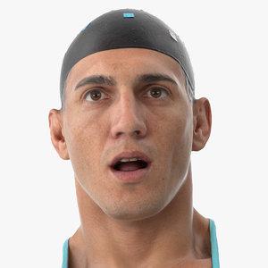 mike human head pose 3D model