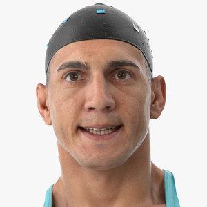 3D model mike human head pose