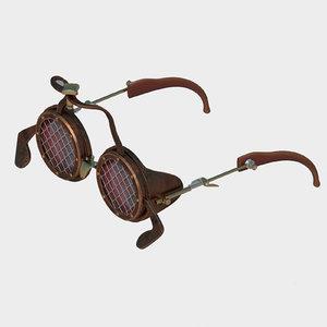 glasses steampunk punk 3D model