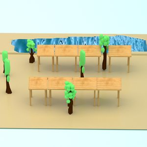 small village 3D model