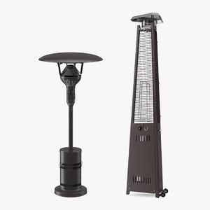 patio heaters heating 3D model