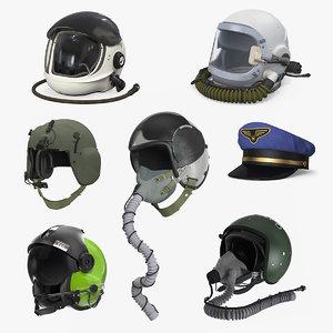 3D pilot hats 4