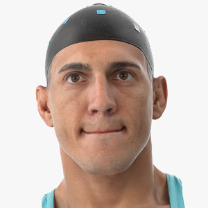 mike human head lip 3D model