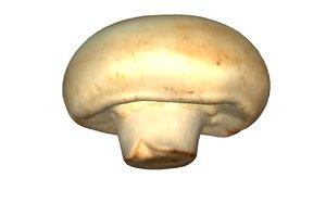 3D model mushroom scanned