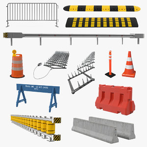 3D road barriers 9 model