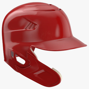 3D baseball helmet c flap model