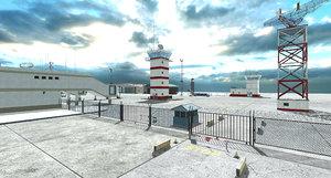 airport base module 3D model