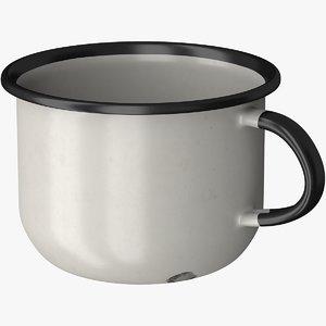 enameled mug 3D model