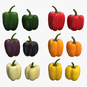 peppers - 6 colors 3D model