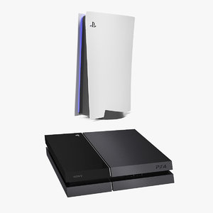 3D sony playstations playing model