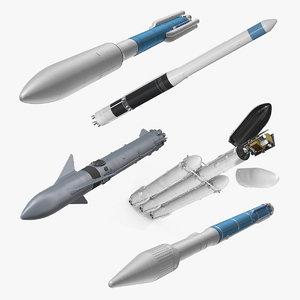 space launch vehicles 2 3D model