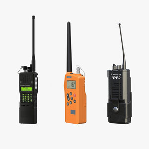 two-way radios 3D model