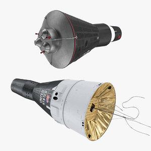 3D spacecraft capsules space