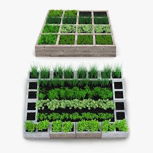 3D vegetable gardens