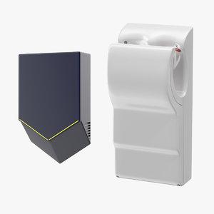 3D vertical hand dryers dry