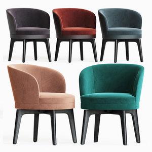 fendi casa doyle dining chair 3D model