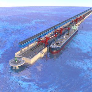 ship bulk carrier pier model