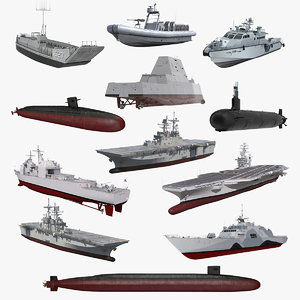 warships 6 combat ship model