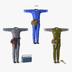 workman uniforms work 3D model