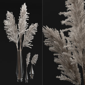 3D pampas bouquet
