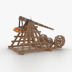 3D catapult weapons model