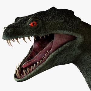 3D snake monster model