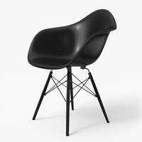 Modern Armchair Eames Full Black
