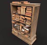 Old Bookshelf-Library