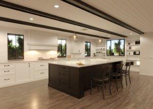 transitional kitchen 3D