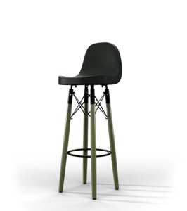 3D stool leather bar