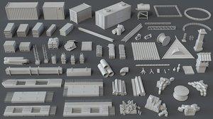 3D pieces construction model