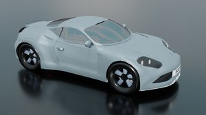 3D gt car artega