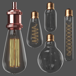 3D edison loft lamps