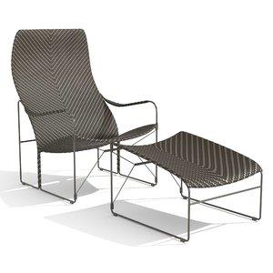 whiskey garden armchair janus 3D model