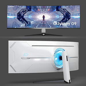 curved qled gaming 3D model