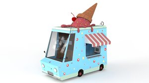 cartoon ice cream car 3D