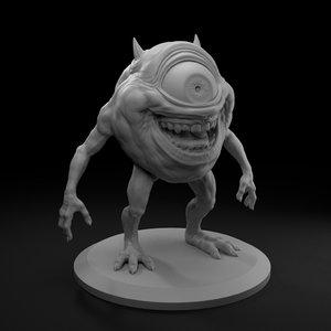 3D laughing devil monsters model