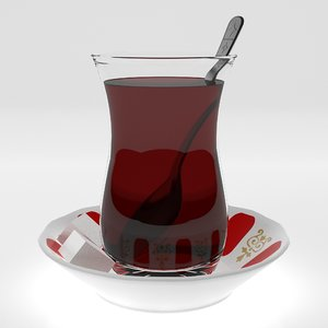 turkish tea 3D model