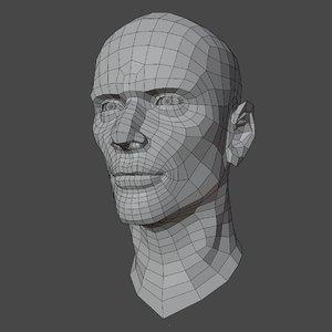 male head v1 3D model